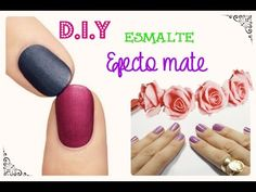 D.I.Y Esmalte mate Diy, Lifestyle, Nails, Beauty, Enamels, Finger Nails, Bricolage, Ongles, Handyman Projects