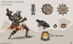 Overwatch Junkrat Fan skin: Crusader
