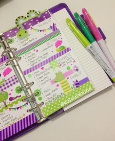 Coloursnme: Filofax Purple Saffiano in Personal size - Reptiles Inspired
