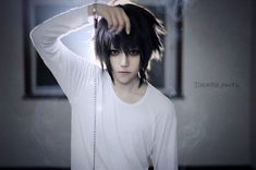 L, death note, cosplay Cosplay Anime, Naruto Cosplay, Belle Cosplay, Epic Cosplay, Amazing Cosplay, Cosplay Costumes, Cosplay Ideas, Cosplay Boy, Halloween Cosplay