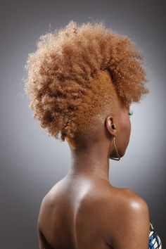 Style-wise, I think this is where I'm going, but more in the burgundy family...blonde frohawk fab