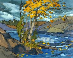 His style is reminiscent of the Group of Seven, but with a special twist unique to Josh Silburt. Group Of Seven Art, Group Of Seven Paintings, Canadian Painters, Canadian Artists, Landscape Art, Landscape Paintings, Tom Thomson, Emily Carr, Impressionist Paintings