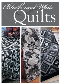 Black and white quilt patterns really make a statement! And, these quilt patterns are FREE!! Many quilters love working on black and white quilt patterns as a way of keeping their quilts simple and distinct. If you're looking for an original type of quilt to work on, look no further.