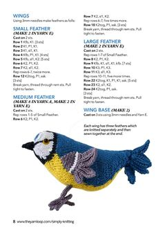 """Photo from album """"Simply Knitting on Yandex. Knitting Books, Knitting Ideas, Simply Knitting, Large Feathers, Animals And Pets, Knit Crochet, Free Pattern, Diy And Crafts, It Cast"""