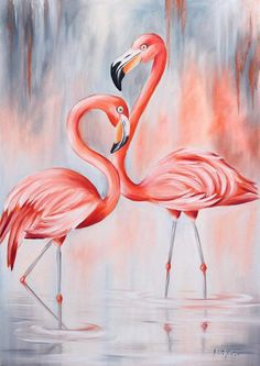 Beautiful couple of flamingo Millions of unique designs by independent artists Find your thing Flamingo Painting, Peacock Painting, Flamingo Art, Canvas Art, Canvas Prints, Art Prints, Canvas Paintings, Flamingo Wallpaper, Pinturas Disney