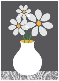 Daisies art print- www.strawberryluna.com