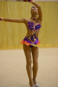 Acrobatics Dancing Firebird Rhythmic Gymnastic Leotard Ice Skating Performance Gymnastics