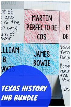 Texas History Interactive Notebook Grade - This HUGE Texas History Interactive Notebook bundle is full of grade notebook activities rangin - Instructional Strategies, Teaching Strategies, Teaching Resources, History Interactive Notebook, Interactive Notebooks, Texas Government, Texas Revolution, Texas Teacher, Texas History