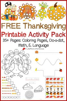 Printable black and white Thanksgiving