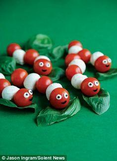 Tomate-Morzarella Wurm