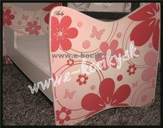 Detská posteľ Ružové Kvety 180x90 cm s matracom