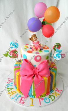 Торт для девочки на первый День рождения