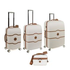 Delsey Chatelet Plus 4 Piece Spinner Luggage Set