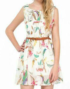 Vestido corto primaveral