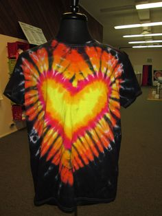 Ladies Extra Large Tie Dye Heart by AlbanyTieDye on Etsy, $20.00