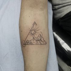 Triangle Tattoo. A triangle is said to be as old as the dawn of time. The classic triangle shape can be found in nature in the shapes of animals and in tree leaves. This shape is used for to portray various meanings in religion and science. Getting a triangle tattoo is a good idea but it is important to understand the meaning of the type of triangle you want to have as they have varying meanings.