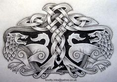heraldic wolf tattoo - Google Search