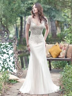 Maggie Sottero Amal | Great Gatsby gown | Available from Astra Bridal |
