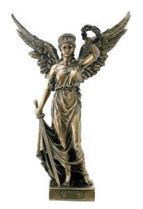 Nike with Sword and Wreath in Hands Statue Sculpture - This exquisitely detailed depiction of Nike, goddess of victory and strength, would make a great gift for anyone who has come through troubled times.