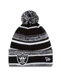 d13fbee664a New Era Oakland Raiders Knit Beanie Skull Cap 2014 NFL Hat Pom One Size  Black Sz  NewEra  OaklandRaiders