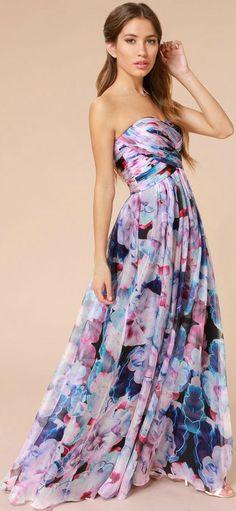 Purple Floral Gown
