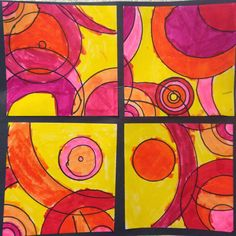 A finished piece!               Start with a bag of circles...     Cut a sheet of 11 inch x 11 inch white paper. Use the extra strip...