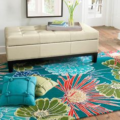 Dare to make a statement with a rug that demands attention. Our Brighton Floral Area Rug will form the striking centerpiece of your room, with colorful    flowers that stand out against a solid background. The blossoms feature round and spiky petals, and the bold colors infuse the room with energy. Plump    fibers provide soft comfort underfoot.    Handmade floral indoor rug with heavy loop pileHand-hooked from durable poly-acrylic fibersMeticulously carved by hand for additional texture ...