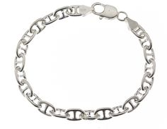 "8"" Anchor Chain Bracelet 925 Sterling Silver"