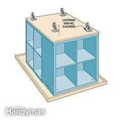 Ikea Kallax Hack: Craft Room Storage | The Family Handyman