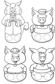 The Three Little Pigs Puppet Templates - the Three Little Pigs Puppet Templates , the Three Little Pigs Kindergarten Nana the Three Little Pigs Retelling Stick Puppets once Upon Three Little Pigs once Upon A Time In Gogoland Preschool Activities, Activities For Kids, Bears Preschool, Reading Activities, Book Crafts, Paper Crafts, Art For Kids, Crafts For Kids, Traditional Tales