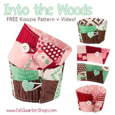 Coffee Koozie Tutorial by Fat Quarter Shop