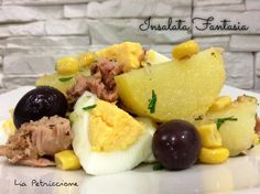 insalata fantasia Lia Cold Dishes, Cooking Recipes, Healthy Recipes, Potato Dishes, Nutella, Light Recipes, Summer Salads, Biscotti, I Foods