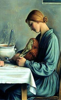 """""""La Tailleuse de Soupe"""", 1933, Oil on canvas, DETAIL - François-Emile Barraud (1899 - 1934, Swiss)"""