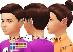 "fruity-humans: "" A TS3 Hearing Aide conversion from @pancakeb0b // @editsim! Deets: -YOU NEED GET TO WORK -Unisex Children only [for now] -Under earring category -YOU NEED TO USE THIS EAR..."