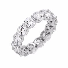 wedding ring Solidify your love with Adina's shimmery eternity band, crafted with brilliant-cut CZ stones. This classic, glamorous ring is a celebrity favorite. Gold Band Ring, Gold Bands, Best Diamond, Halo Diamond, Bridal Jewelry, Jewelry Gifts, Jewellery, Modern Jewelry, Fine Jewelry