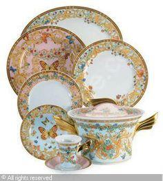 ROSENTHAL,DINNER SERVICE IN THE 'LE JARDIN DE VERSACE' PATTERN
