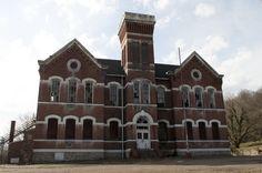 The Higginsport School in Higginsport, Ohio.