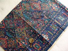 Retro Vintage Liberty Collier Campbell Haibak Fabric in Blue