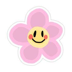 Smiley Flower Sticker by thorawestlind