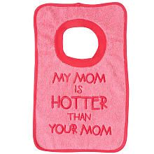 Babies R Us Girls' 'My Mom is Hotter Than Your Mom' Bib - 18-36 Months