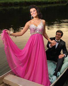 One Shoulder Beading A-Line Prom Dresses,Long Evening Dresses