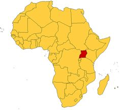 Map Of Africa Uganda Highlighted.11 Best Uganda Maps Images Uganda Africa Map