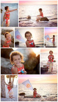 Moana Disney Session Girls Portraits Beach Princess Jennifer Causey Photo