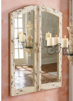 antique cathedral mirror