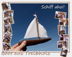 Schiff aus Treibholz