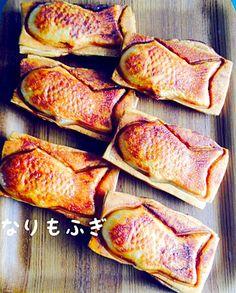 冷凍パイシートで*クロワッサンたいやき ビタントニオのポワソンプレートを使って!普通の鯛焼きよりも簡単に作れる、クロワッサン風鯛焼きです。 具は色々試してみて! 材料 (8個分) 冷凍パイシート 4枚 板チョコレート 4/5枚 あんこ 適量 溶き卵 適量 グラニュー糖 適量