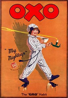 Oxo My Nightcap Print - Vintage Advertising Posters - Retro Posters iPosters Vintage Advertising Posters, Vintage Advertisements, Vintage Ads, Vintage Posters, Retro Posters, Vintage Style, Buy Posters Online, Vintage Dance, Shabby