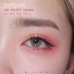 #MakeupTutorialStepByStep Korean Makeup Tips, Korean Makeup Look, Korean Makeup Tutorials, Asian Eye Makeup, Eyebrow Makeup, Asian Makeup Videos, Korean Beauty, Eyeshadow Tutorials, Makeup Eyeshadow
