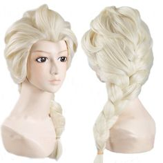 Frozen Princess Elsa Wig Light Blonde Cosplay Costume Anime Wig for sale online Elsa Cosplay, Cosplay Wigs, Cheap Cosplay, Anime Cosplay, Cosplay Ideas, Synthetic Lace Front Wigs, Synthetic Hair, Celebrity Wigs, Anime Wigs