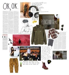 """""""freaks & geeks"""" by radiocure4 ❤ liked on Polyvore featuring TEM, Rebecca Minkoff, H&M, Dr. Martens, Quiksilver, L'Agence, Skullcandy and freaks & geeks"""